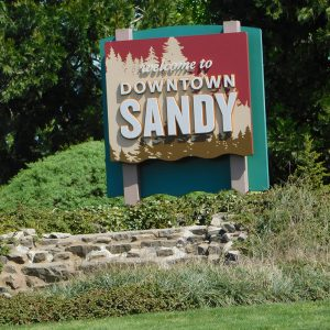 Sandy Welcome Sign